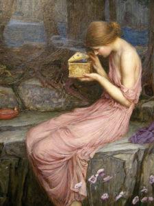 Psyche ouvrant la boite dorée - John William Waterhouse-1903